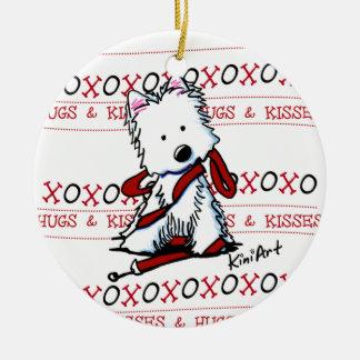 Het Ornament van de Hond XOXO van Westie van
