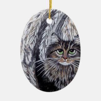 Het Ornament van de Kat van de Wasbeer van Maine