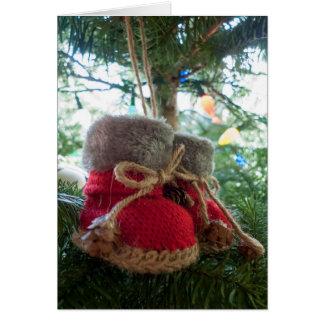 Het Ornament van de Laarzen van het baby Briefkaarten 0