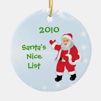 Het Ornament van de Lijst van Nice van de kerstman
