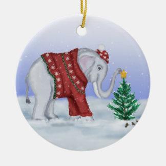 Het Ornament van de Olifant van Kerstmis