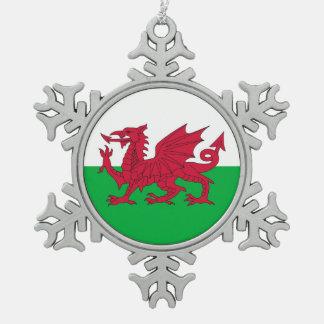 Het Ornament van de sneeuwvlok met de Vlag van