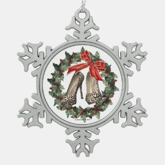 Het Ornament van de Sneeuwvlok van de Schoen van d