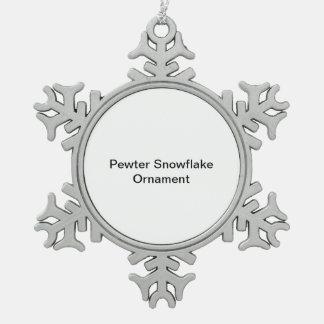 Het Ornament van de Sneeuwvlok van het tin