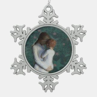 Het Ornament van de Sneeuwvlok van het Tin van de  Tin Sneeuwvlok Ornament