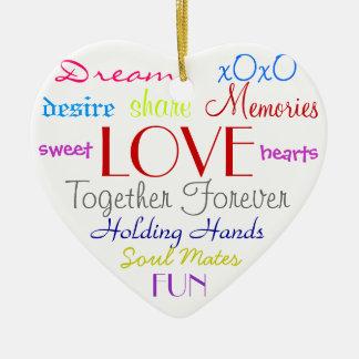 Het Ornament van de Woorden van de liefde