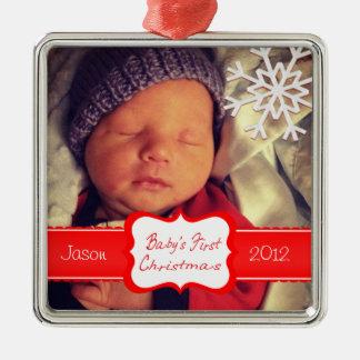 Het Ornament van Eerste Kerstmis van de Baby van