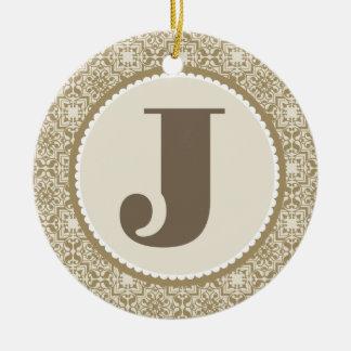 Het Ornament van het Alfabet van de Brief J van