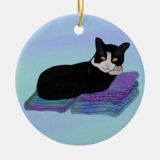 Het Ornament van het Dutje van de Kat van de