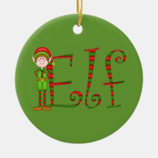 Het ornament van het Elf van Kerstmis