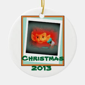 Het Ornament van het Elf van Kerstmis 2013