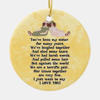 Het ornament van het Gedicht van de zuster