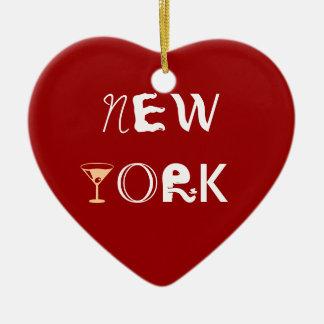Het Ornament van het Hart van New York Martini