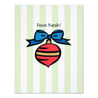 Het Ornament van het Linnen van Natale 4.25x5.5 Kaart
