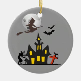 Het Ornament van het Spookhuis van Halloween