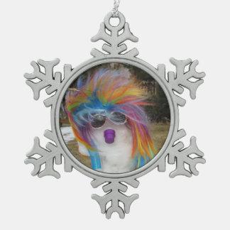 Het Ornament van het Tin van de Sneeuwvlok van Sno