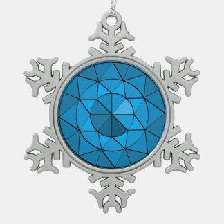 Het Ornament van het Tin van het Ontwerp van de Tin Sneeuwvlok Ornament