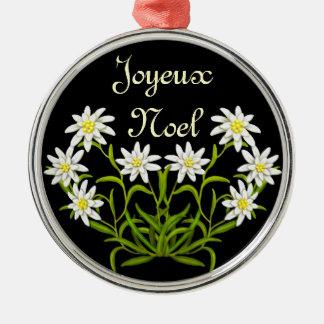 Het Ornament van Joyeux Noel van het edelweiss