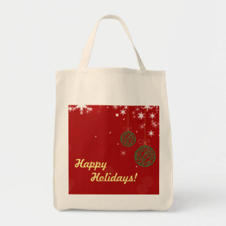 Het Ornament van Kerstmis Boodschappen Draagtas