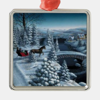 Het Ornament van Kerstmis - SneeuwNacht