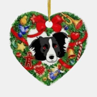 Het Ornament van Kerstmis van border collie
