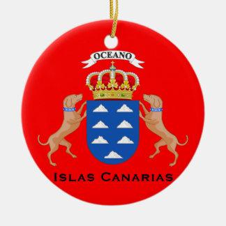 Het Ornament van Kerstmis van Cutom van Canarische