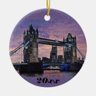 Het Ornament van Kerstmis van de Brug van de Toren