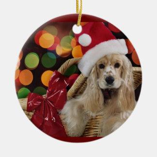 Het Ornament van Kerstmis van de cocker-spaniël