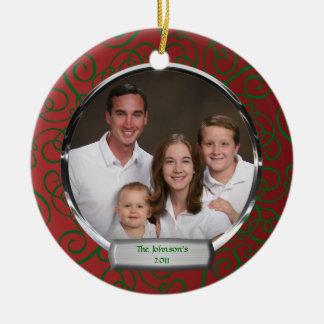 Het Ornament van Kerstmis van de Foto van de