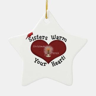 Het Ornament van Kerstmis van de Kaars van zusters