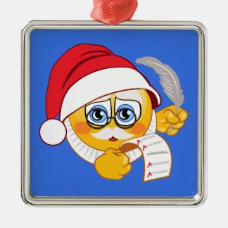 Het Ornament van Kerstmis van de Kerstman Emoji