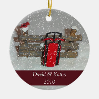 Het Ornament van Kerstmis van de slee en van de