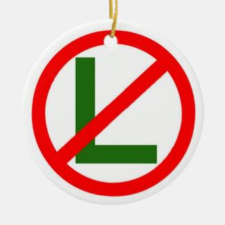 Het Ornament van Kerstmis van geen-L van Noel