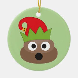 Het Ornament van Kerstmis van het Elf van Emoji