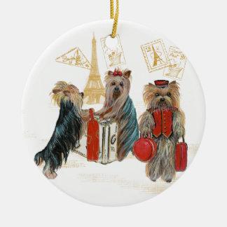 Het Ornament van Kerstmis van Parijs van de Reis