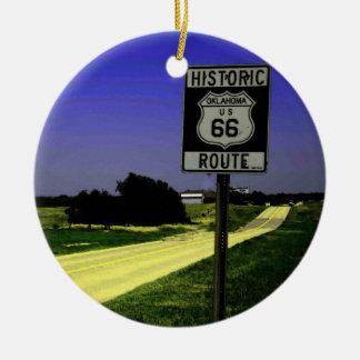 Het Ornament van Kerstmis van route 66