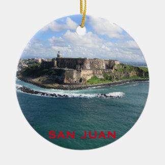Het Ornament van Kerstmis van San Juan Puerto Rico