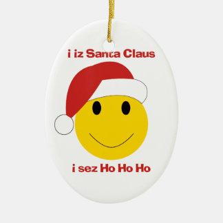 Het ornament van Kerstmis van Smiley van de