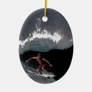 Het Ornament van Kerstmis van Surfer van de