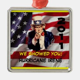Het Ornament van oom Sam Hurricane Irene 2011