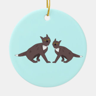 Het Ornament van twee Katten