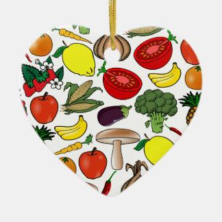 Het ornament van vruchten & van Groenten, past aan