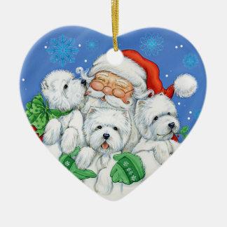 """Het Ornament """"XOXO"""" van Kerstmis van Westie door"""