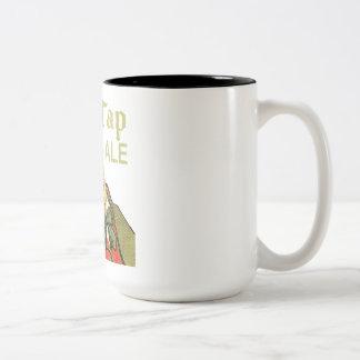 Het oude Aal van de Kraan Tweekleurige Koffiemok