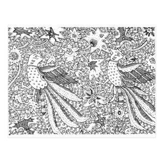 Het oude Abstracte TextielPatroon van de Natuur Briefkaart
