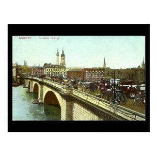 Het oude Briefkaart van Londen - de Brug van