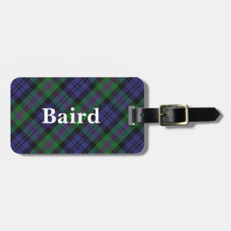 Het oude Geruite Schotse wollen stof van Baird van Kofferlabel