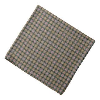 Het Oude Geruite Schotse wollen stof van Bandana