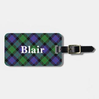 Het oude Geruite Schotse wollen stof van Blair van Bagagelabel