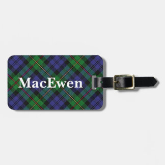 Het oude Geruite Schotse wollen stof van MacEwen Kofferlabel